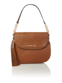 Bedford tan flap over shoulder bag