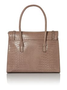 Netral large croc tote bag