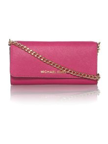 Jetset Travel pink chain flap over purse