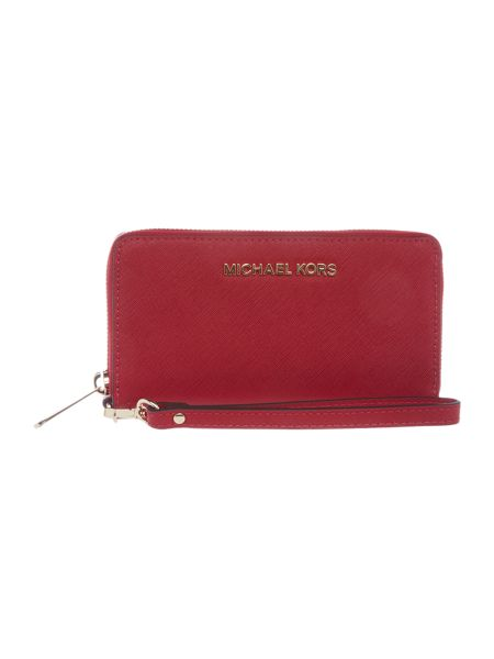 Michael Kors Jetset Travel red zip around purse