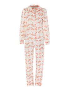 Flamingo cotton sateen pj set