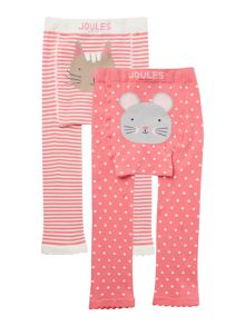 Baby girls cat & mouse print leggings set
