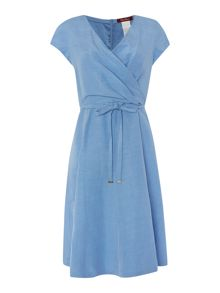 Max Mara Alain Cap sleeve wrap dress