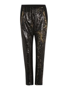 Gold limited edition two tone sequin trousers