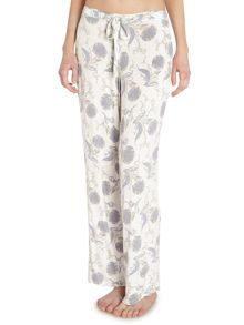 Floral scroll jersey trousers