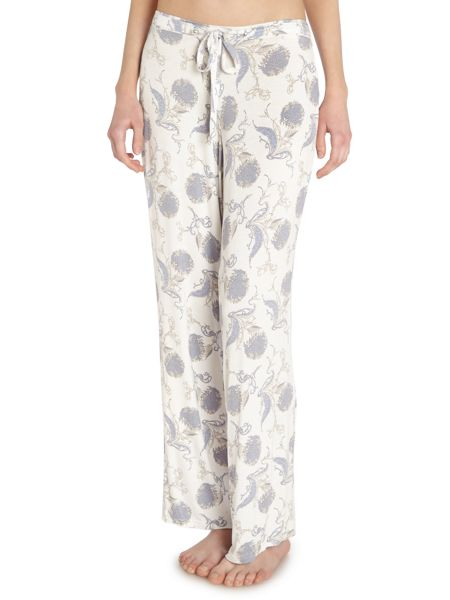 Linea Floral scroll jersey trousers