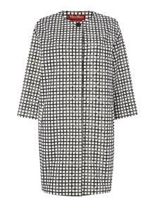 Max Mara Umico grid checked coat
