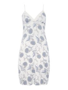 Floral scroll jersey chemise