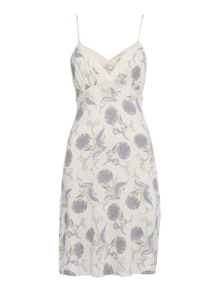 Linea Floral scroll jersey chemise