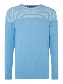 Duck and Cover Stripe Crew Neck Pull Over Jumper