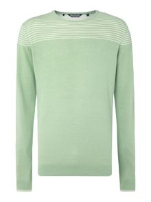 Stripe Crew Neck Pull Over Jumper