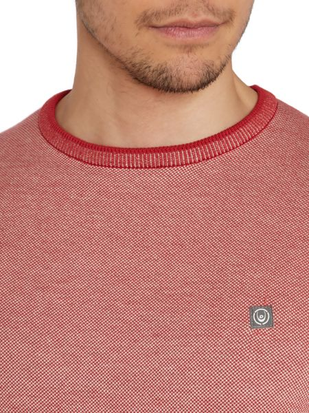 Duck and Cover Textured Crew Neck Pull Over Jumpers