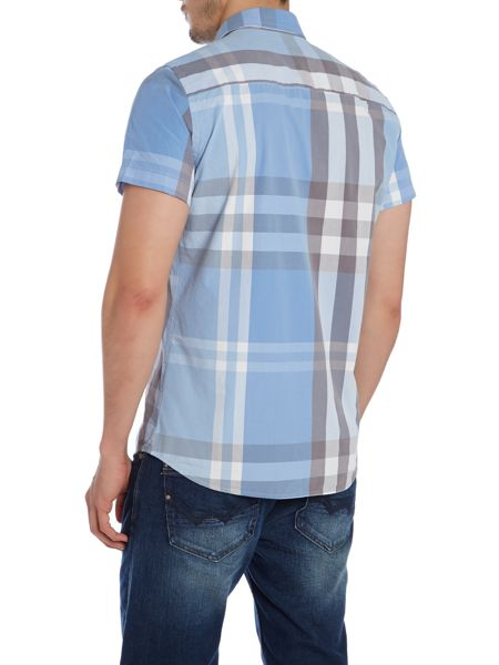 Duck and Cover Stripe Classic Fit Short Sleeve Button Down Shirt