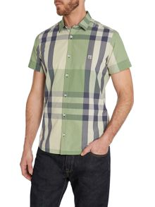Stripe Classic Fit Short Sleeve Button Down Shirt