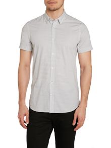 Duck and Cover Print Classic Fit Short Sleeve Button Down Shirt