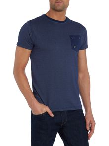 Duck and Cover Textured Crew Neck Regular Fit T-Shirt