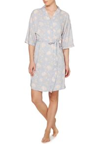 Vintage floral woven viscose robe