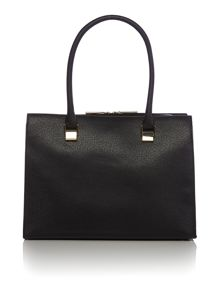 Black large saffiano tote bag