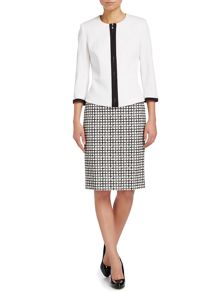Pacca grid checked pencil skirt