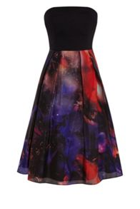 Arwa Printed Bandeau Dress