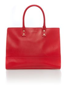 Daphne red large tote bag