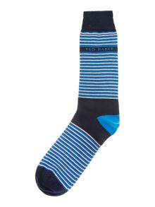 Organic stripe block sock