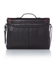 Kantoo contrast leather messenger satchel