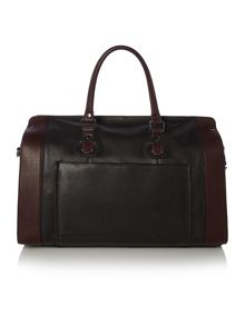 Bannon contrast striple leather holdall