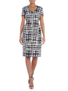 Escada Delfta check dress