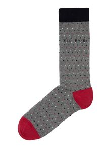 Tiny dot pattern sock