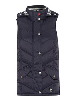 Forland chevron quilted gilet