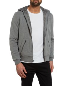 Sherpa lined zip up hoody