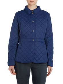 Quilted jacket with cuff and lining