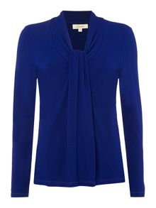 Knot front jersey top
