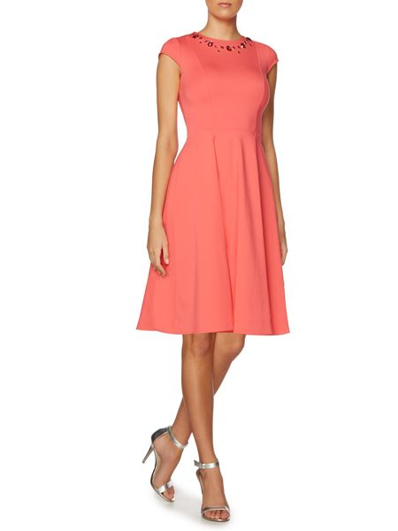 Untold Fit and flare cap sleeve dress