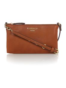 Dakota tan small chain cross body bag