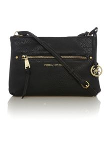 Leah black cross body bag