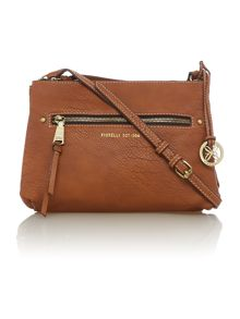 Leah tan cross body bag