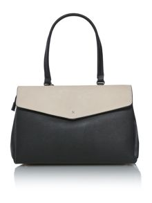 Madison monochrome flap over tote bag