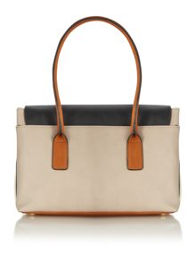 Olivia Jade multi coloured flap over tote bag
