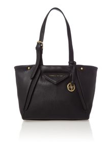 Paloma black medium shoulder tote bag