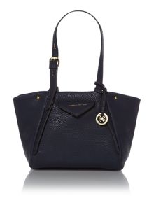 Paloma navy medium tote bag