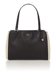 Sophia monochrome shoulder tote bag