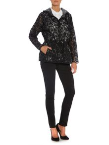 Sportmax Code Hooded lace floral print jacket