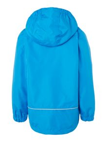 Boys Detachable Hooded Varsity Rain Jacket