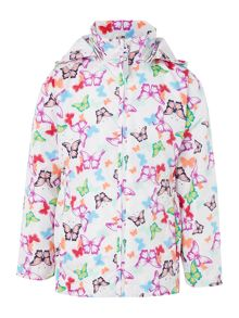 Girls Butterfly Jacket With Detachable Hood