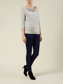 Cowl Side Tuck Top