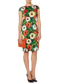 Linea Floral stretch poppy dress