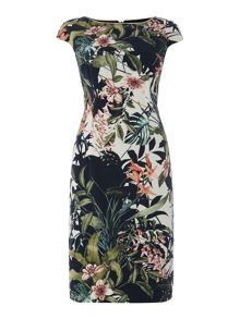 Botanical print dress
