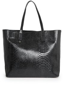 Snake-effect shopper bag